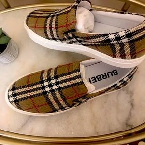 Burberry Check-Slip On Sneakers
